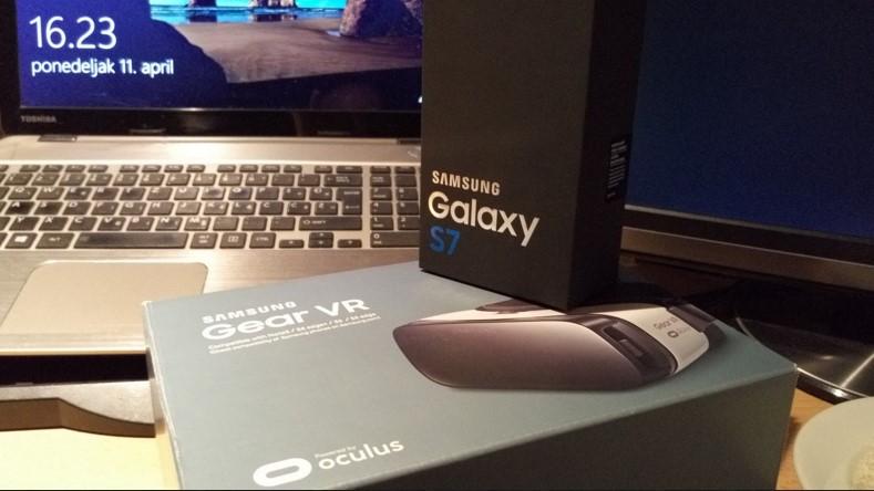Galaxy S7 i Gear VR test