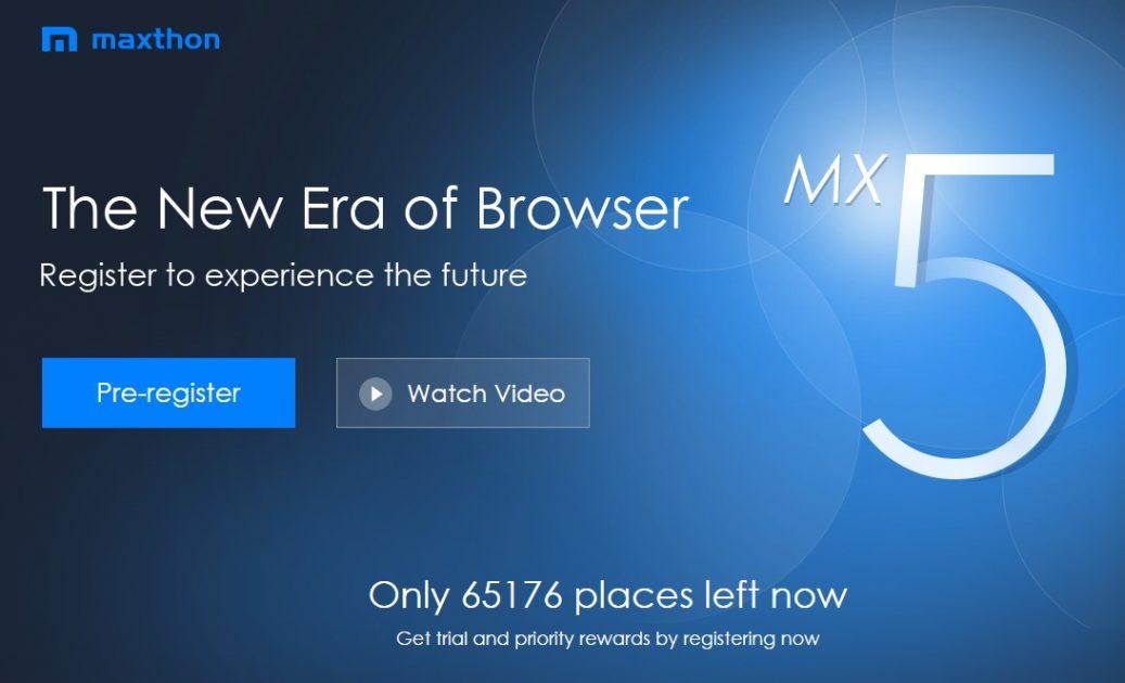 Maxton MX5 pre-registration