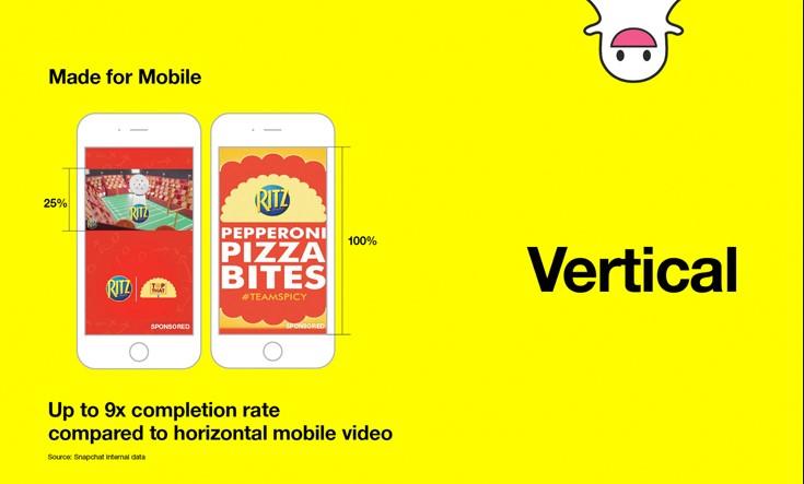 Vertikalne reklame na Snapchatu