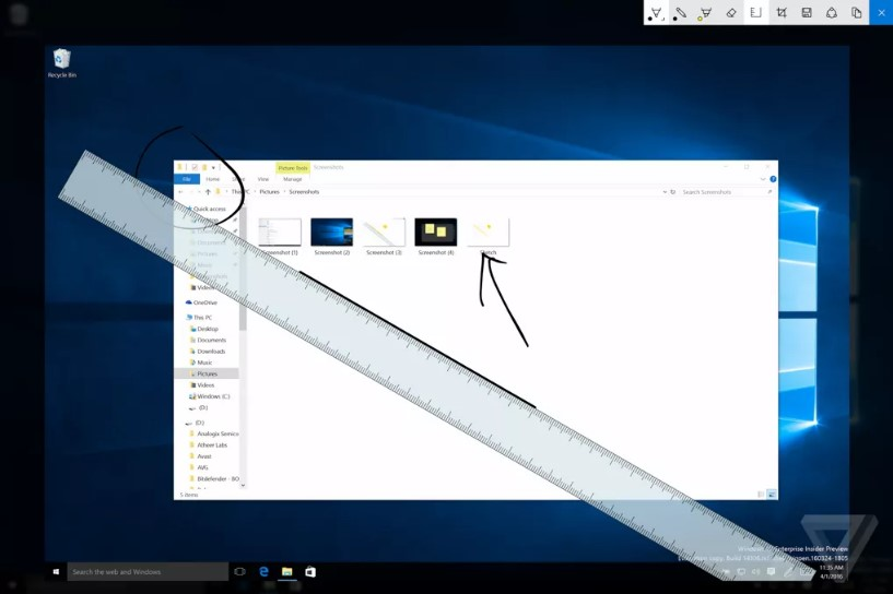 Windows Ink Windows 10 Anniversary update