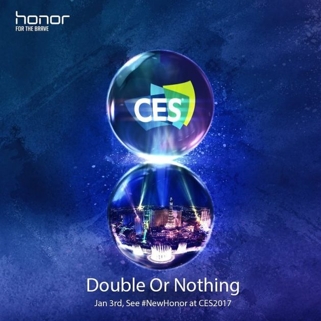 huawei honor dual camera CES 2017