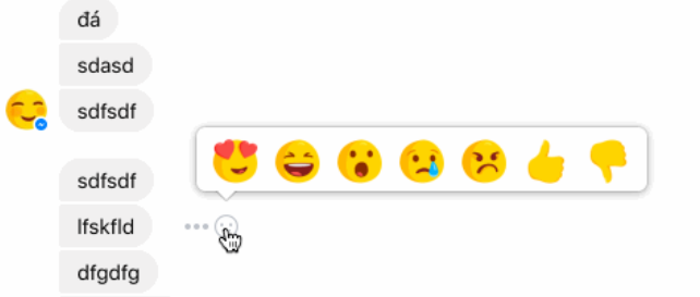 reactions dislike messenger