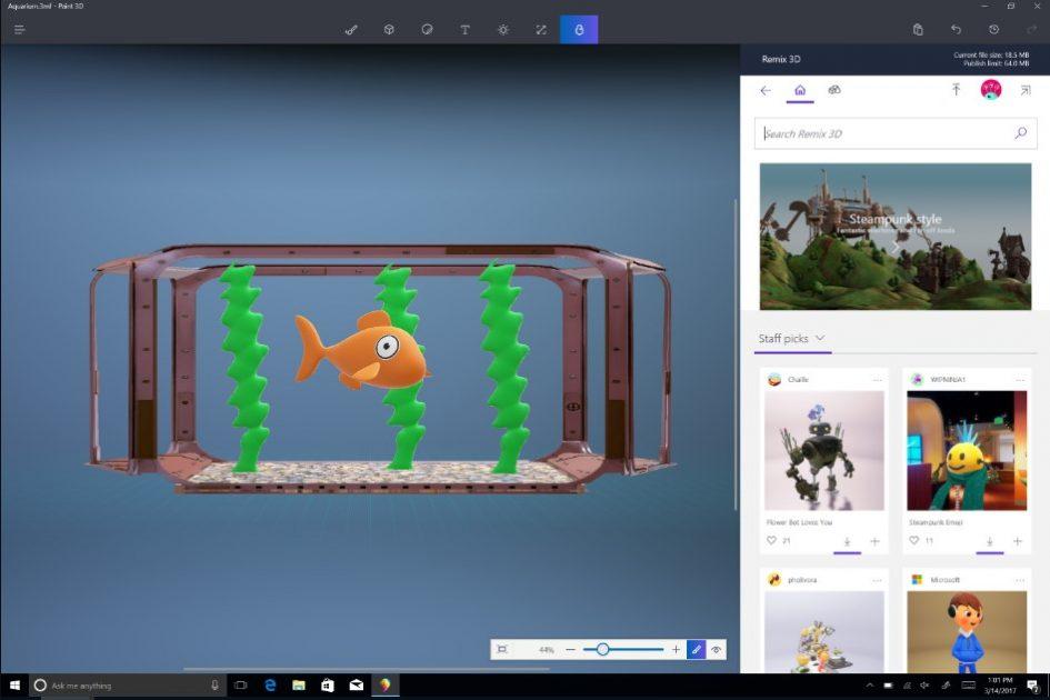 windows 10 ažuriranje donosi unapređenu 3D mašinu