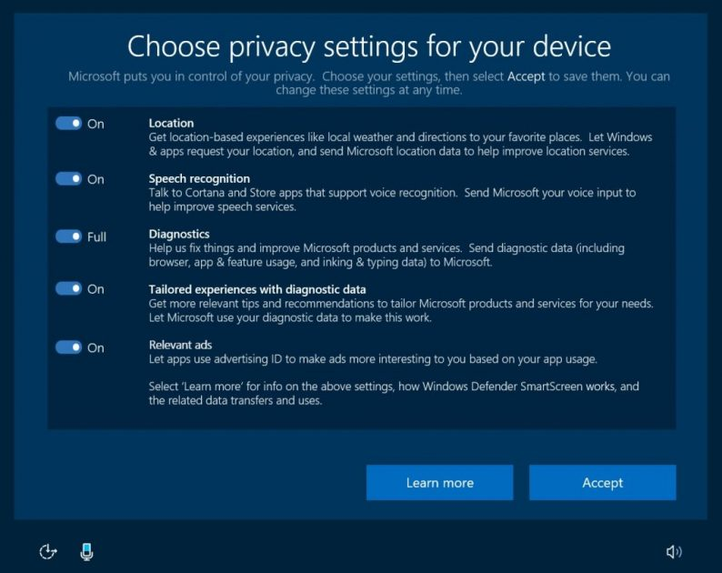 Bolja kontrola privatnosti u Windows 10 Creators Update