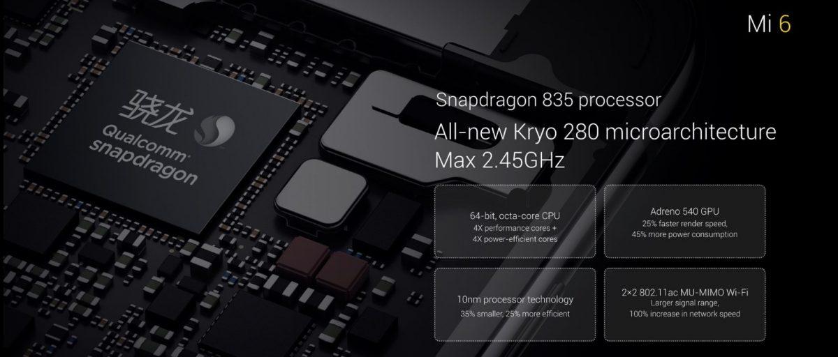 Xiaomi Mi 6 procesor Snapdragon 835