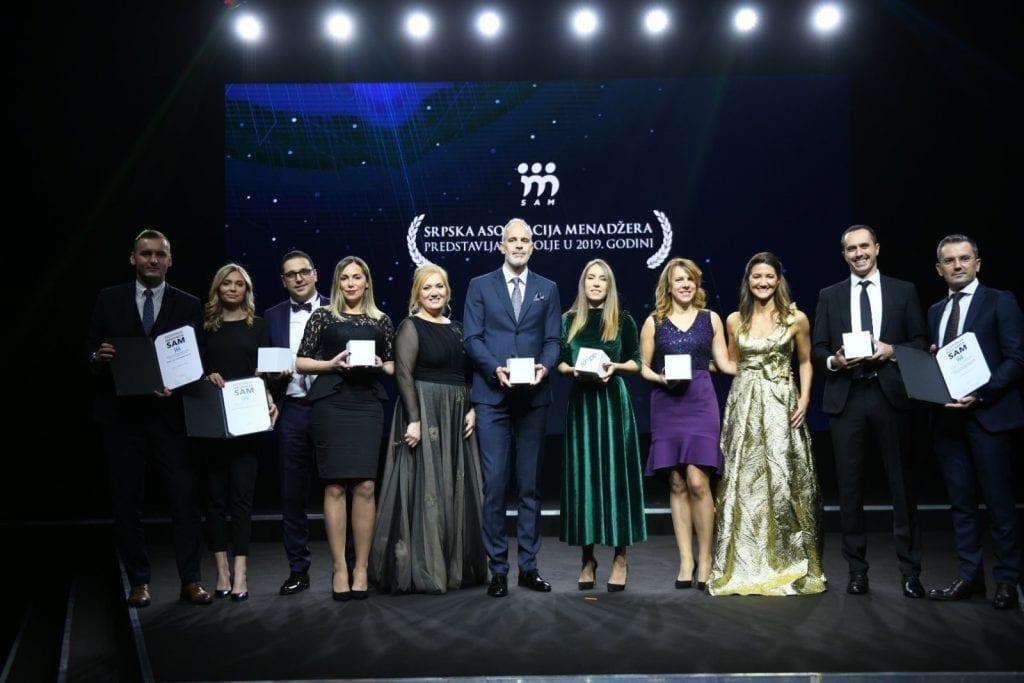 Dobitnici godisnjih nagrada Srpske asocijacije menadzera